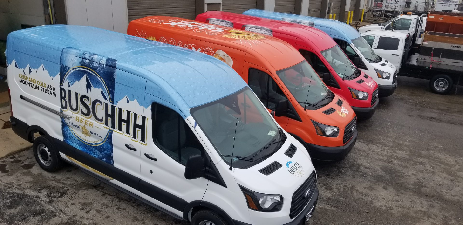 Fleet Wrap Installation For Anheuser Busch Fleet Vans