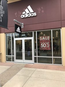 Adidas In Store Retail Sign Installation