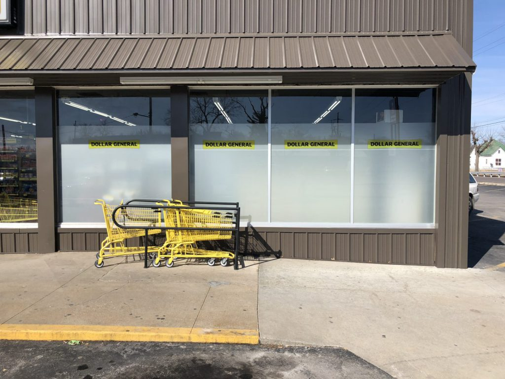 Dollar General Window Graphics on Retail Store