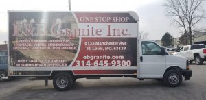 E & B Granite Inc. Installation on Truck