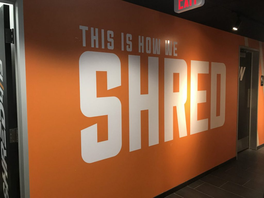 Shred Creve Couer Wall Graphic in Gym