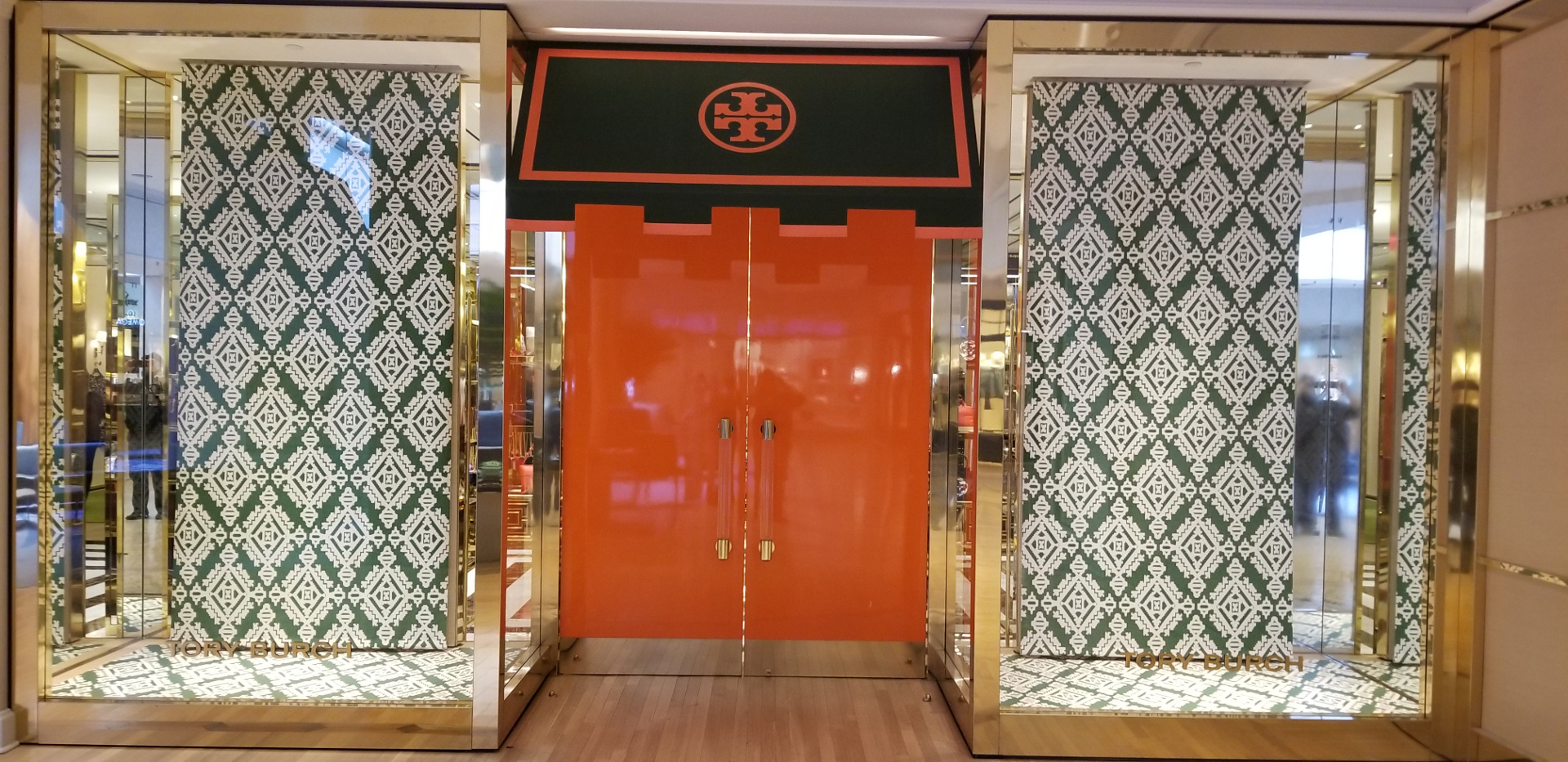 Tory Burch Window Installation on Retail Store