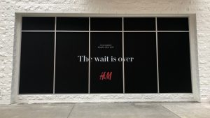 H&M Window Graphics on a retail store window