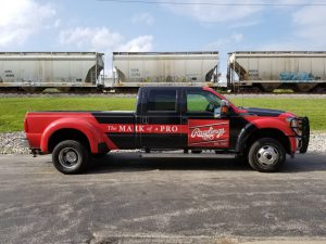 Rawlings Vehicle Wrap on Truck