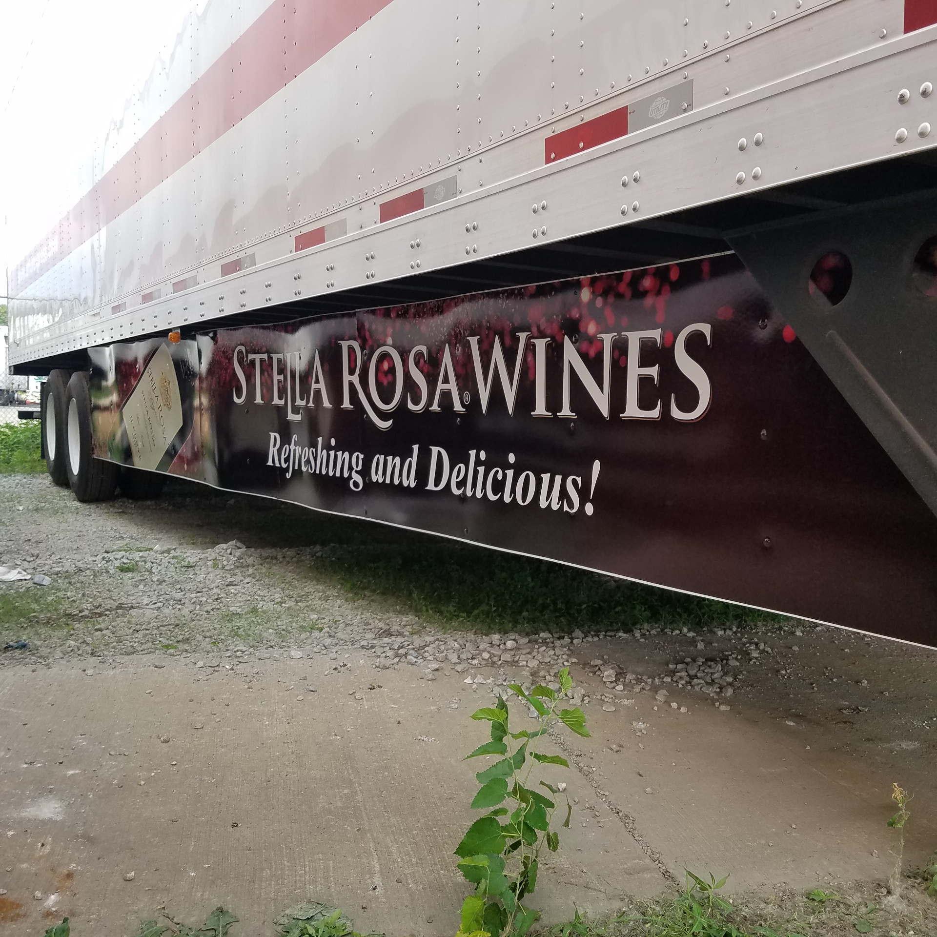 Artur Express Trailer Wrap with Stella Rosa Wines side graphic.…