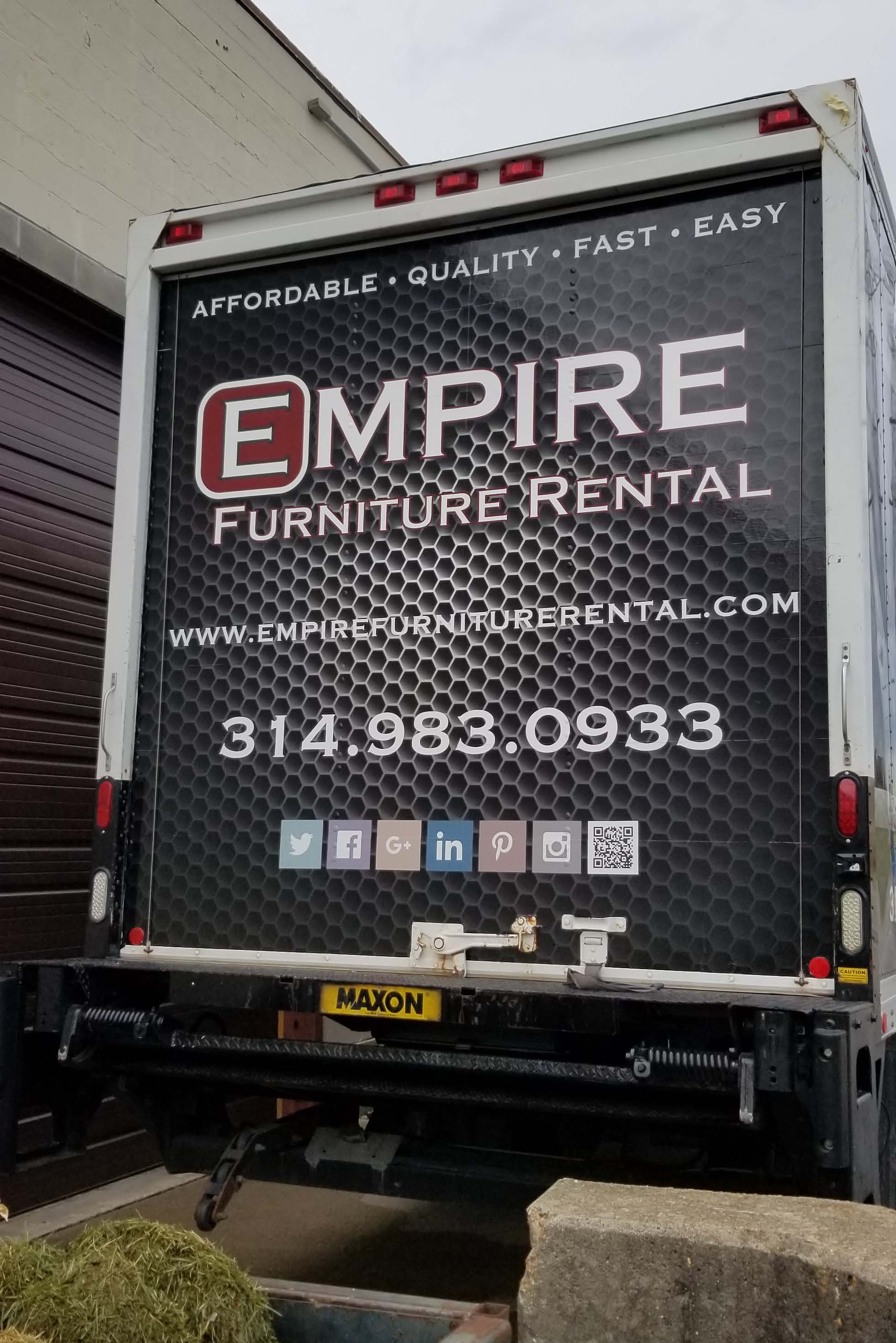 Empire Furniture Rental Truck Vehicle Wrap…