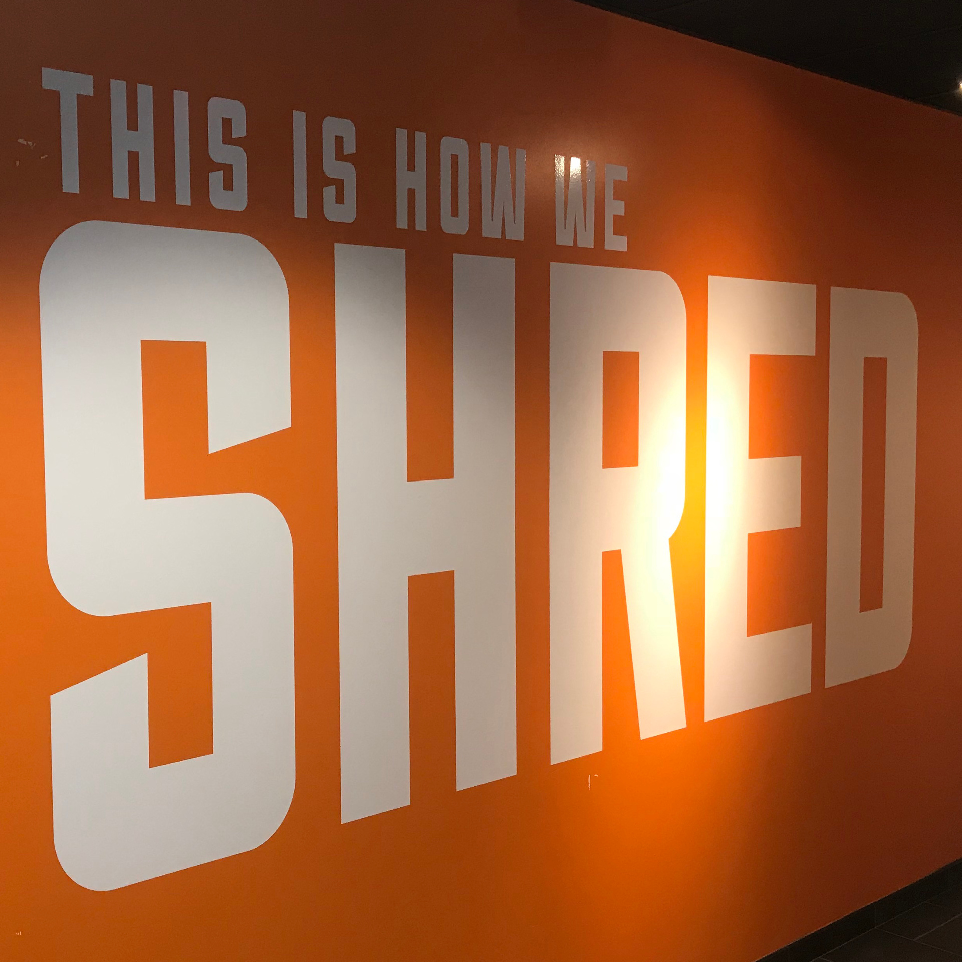 Shred Creve Coeur Wall Graphic in Gym…