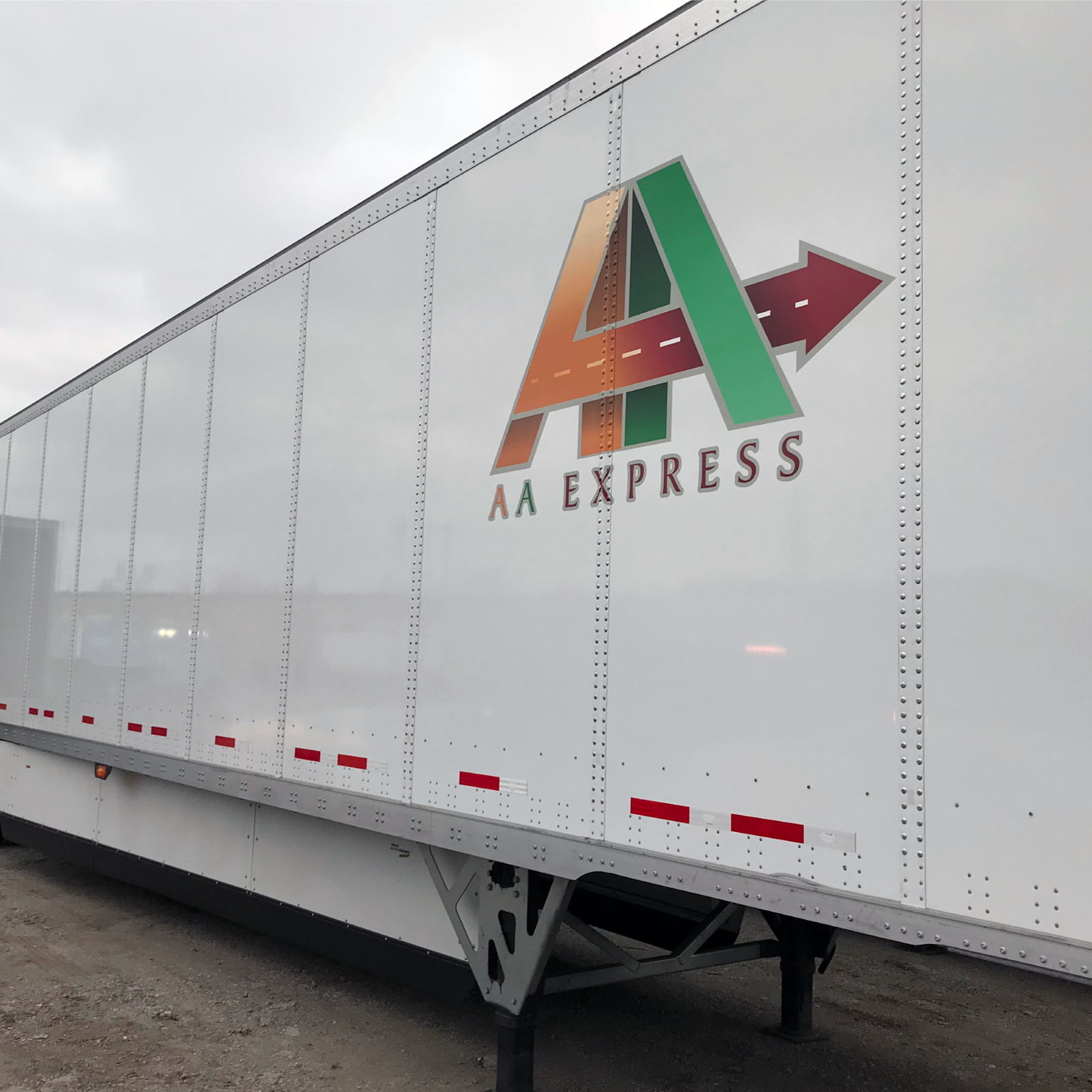 AA Express Graphic on Semi-Truck