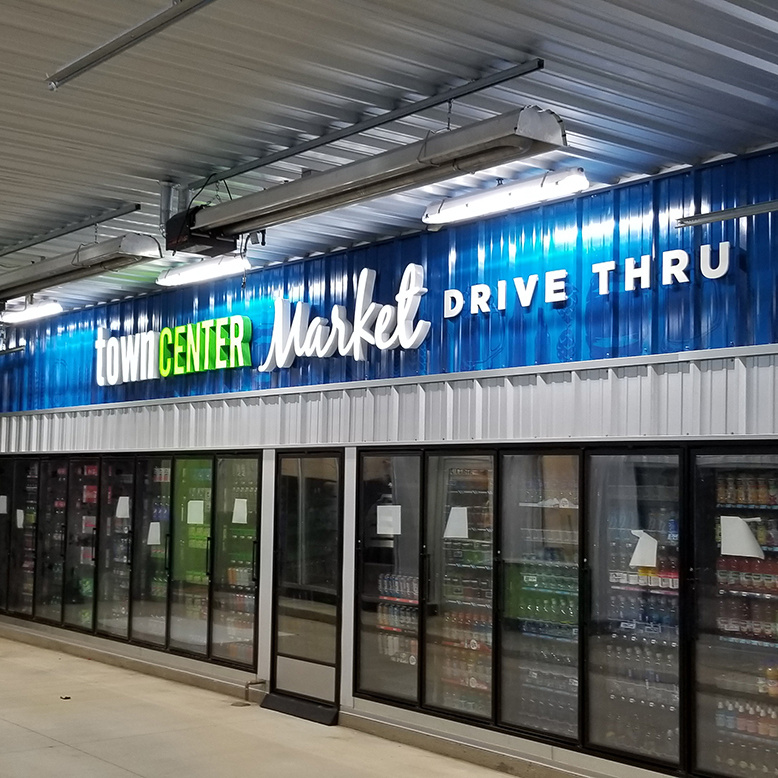 Town Center Convenience Store Graphics and Custom Signs