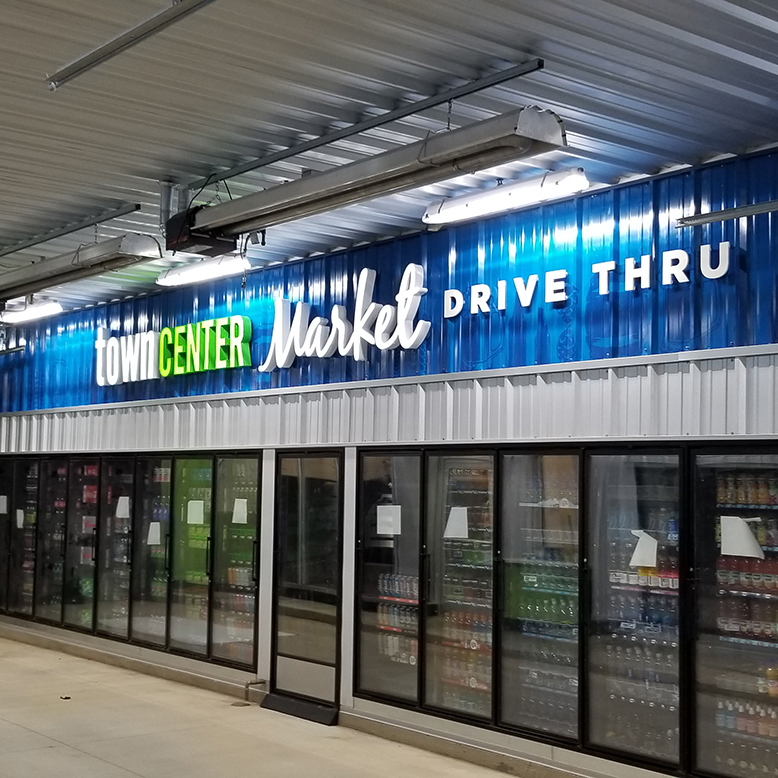 Town Center Environmental Graphics at Convenience Store