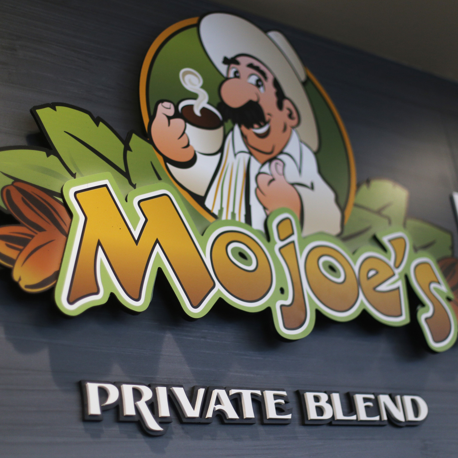 Mojo's Private Blend Coffee Moto Mart C-Store Graphic