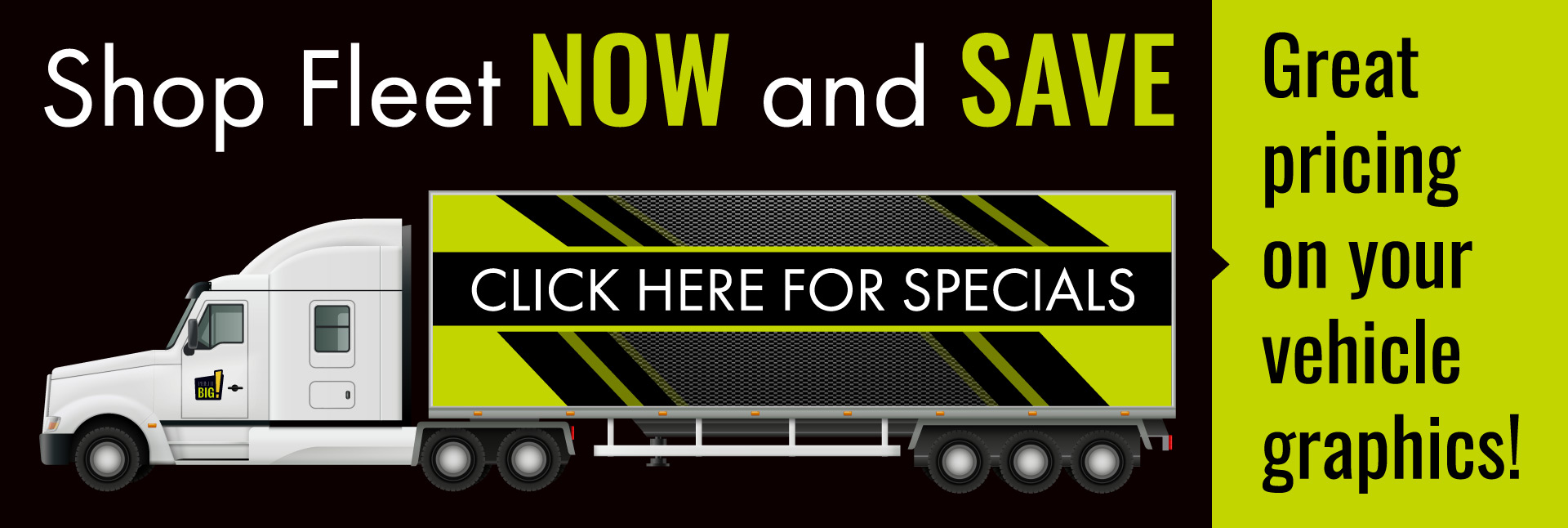Great pricing on your vehicle graphics!